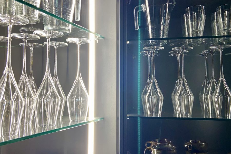 Glaskast keuken